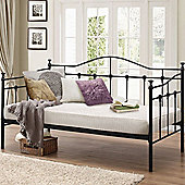Happy Beds Torino Black Metal Day Bed Ortho Mattress