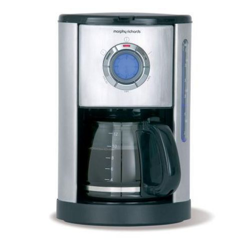 Morphy Richards 47076 Accents Brushed Filter Coffee Maker