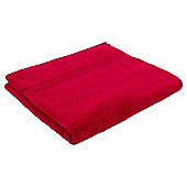 Tesco Hygro 100% Cotton Bath Towel, Red