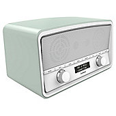 Goodmans Heritage DAB Stereo Radio with Bluetooth, Pastel Green