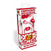 In Ear Headphones with In-Line Mic Very Cherry