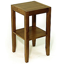 Anywhere - Solid Wood End / Telephone Table - Walnut Effect