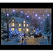 Thomas Kinkade Home for the Holidays Illuminated Wall Canvas