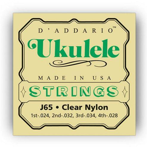 DAddario J65 Ukulele Strings - Soprano