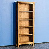Surrey Oak Slim Bookcase - Rustic Finish