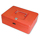 Helix 250mm Sloping Lid Cash Box Red