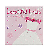 Fashionista - Beautiful Bride Wedding Card