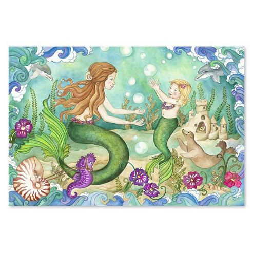 Mermaid Playground - 48 JUMBO PIECES - Floor Puzzle - Melissa & Doug