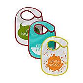 B Newborn's Slogan Bibs - 3 Pack