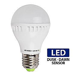 3W ES E27 LED Dusk Till Dawn Sensor Bulb Neutral White