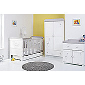 DISNEY WINNIE THE POOH Dreams & Wishes 5 Piece Room Set - White With Grey Trim