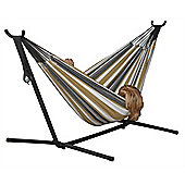Vivere Double Hammock with Stand - Desert Moon