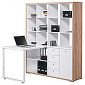 Maja 9560 Sonoma Oak and White Mini Office