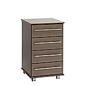 Ideal Furniture New York Four Drawer Bedside Table - Beech