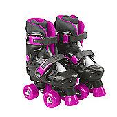 Evo Adjustable Quad Skates Pink/Black - Junior Size 13-2