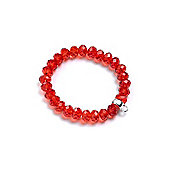 Girl's Red Crystal Charm Carrier Bracelet