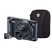Samsung WB35F Smart Digital Camera Kit, Black, 16.2MP, 12x Optical Zoom, Wi-Fi, 8GB Micro SD Card & Case