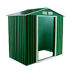 Palm Springs Outdoor Apex Metal Garden Storage Shed - 6X4ft