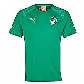 2014-15 Ivory Coast Away World Cup Football Shirt - Green
