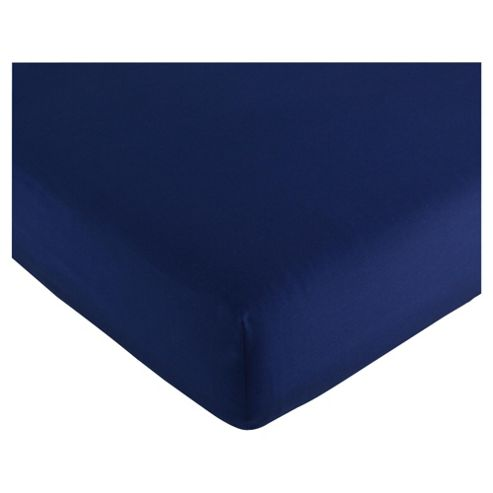 Kids Dark Navy Fitted Sheet Single