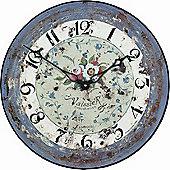 Roger Lascelles Clocks Antique Rose Wall Clock