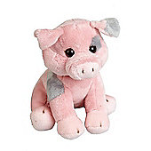 Ravensden 19cm Pink And Grey Pig Soft Toy