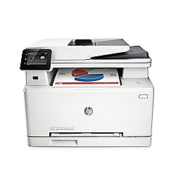HP Colour M277dw LaserJet Multifunction Printer - Print, copy, scan, fax (White)