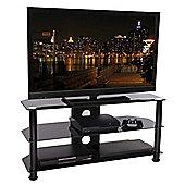 Tru-Vue F-TRU1000 Black Glass TV Stand