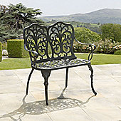Sussex Black Cast Aluminium Garden Bench