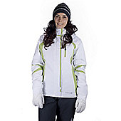 Mountain Warehouse Amour Womens Winter Ski Snowboarding Snow Skiing Jacket Coat - White
