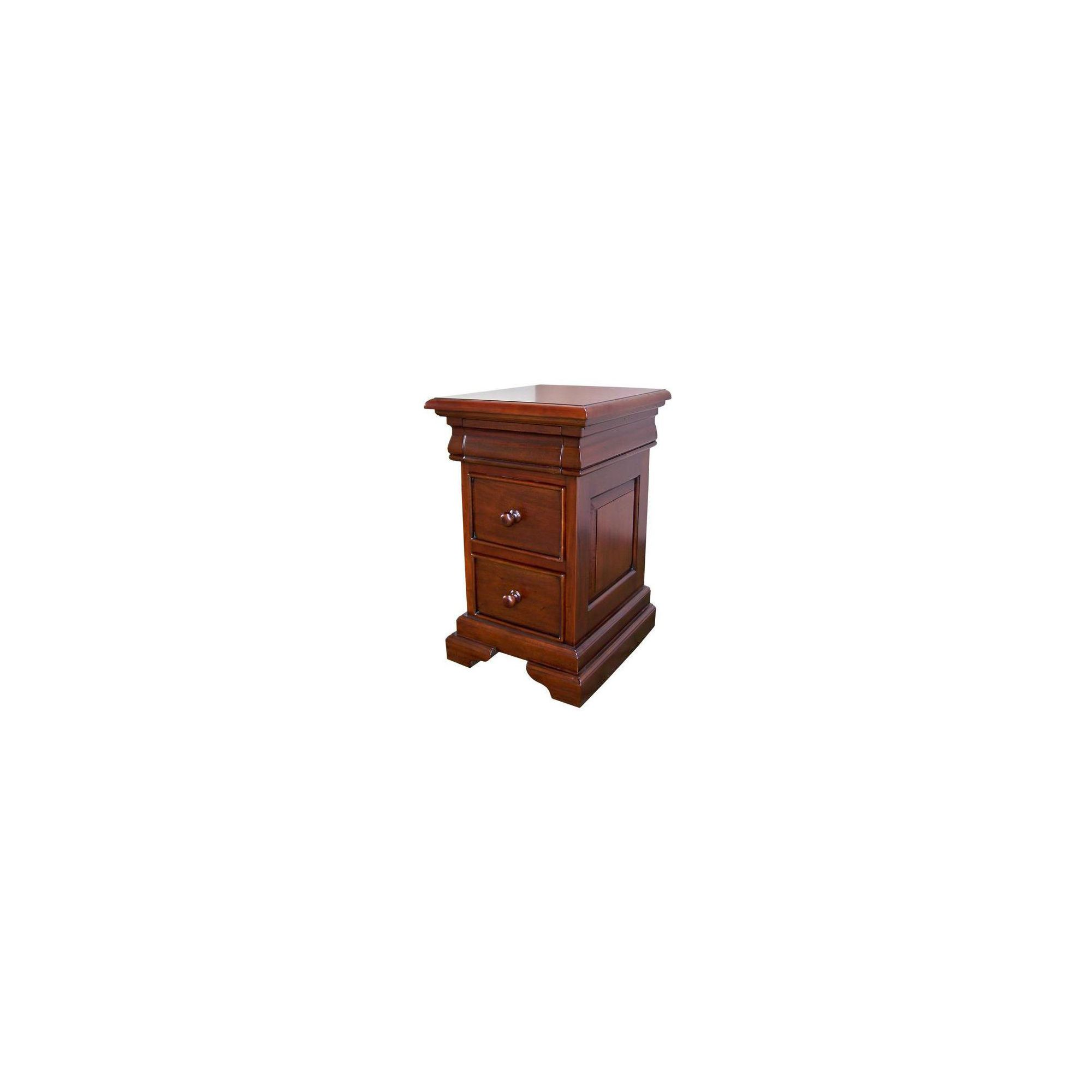 Lock stock and barrel Louis Philippe Sleigh Style 2-3 Drawer Bedside in Mahogany - Antique White at Tescos Direct