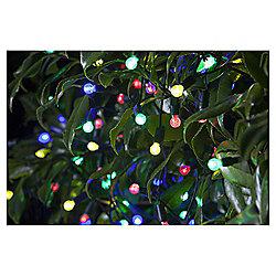 Tesco Multi-coloured Berry Solar String Light, 100 Bulbs