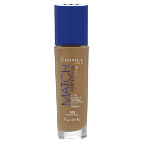 Rimmel London Match Perfection Light Perfecting Radiance Foundation SPF 18 400 Natural Beige 30ml