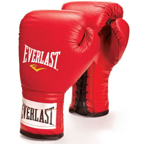 Everlast Laced Boxing Sparring Glove 16oz - Red