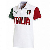 2014-15 Italy Puma FIGC Polo Shirt (White)