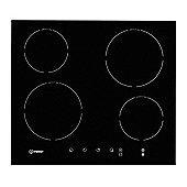Indesit VIA640C Built In 60cm Induction Hob in Black 4 cooking zones