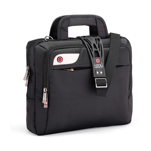 i-stay 13.3 inch tablet, netbook, ultrabook bag with non slip bag strap Black