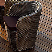 Varaschin Gardenia Chair by Varaschin R and D - Bronze - Panama Azzurro