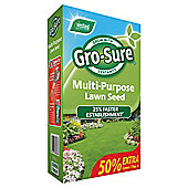 Gro sure multi-purpose lawn seed 450g (15sqm)