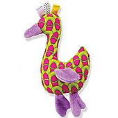 Soft Toy Animal Prints 6 m+ - Purple Duck