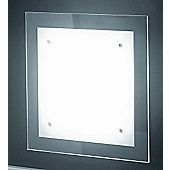 Lucente Trim Wall / Ceiling Light with Extra Clear Glass - 2 x 42W E27 A55
