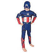 Rubies UK Deluxe Padded Chest Captain America- M