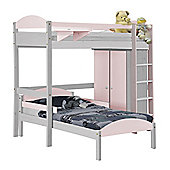 Maximus L Shape High Sleeper Set 1 White With Pink Details