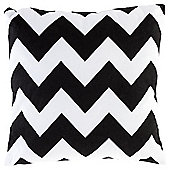 Chevron Cushion 43 x 43cm, Black