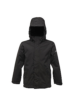 The Kid's Pakka Waterproof Jacket has been constructed of technical fabric that will keep you dry and protected from the elements. The fabric has been coated with a waterproof membrane that prevents water droplets from penetrating the fabric.