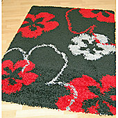 Origin Red Cosmo Black / Red Rug - 220cm x 160cm