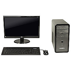 "Zoostorm, 18.5"" Desktop Bundle, Intel Celeron, 4GB RAM, 500GB"