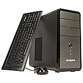 Zoostorm Desktop Bundle 18.5 inch Monitor Intel Celeron 4GB Memory 500GB Storage W8.1 Bing Grey