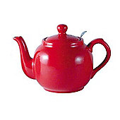 London Pottery Farmhouse Filter Teapot, 2 Cup, Red