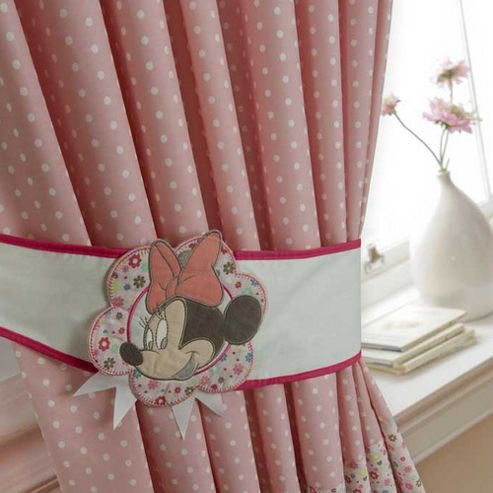 Walt Disney Disney Minnie Sunshine Curtains and Tie Backs
